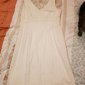 Talbots White Flower Lace 60s Style Dress 6